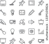 thin line icon set   right... | Shutterstock .eps vector #1339105826