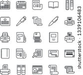 thin line icon set   contract... | Shutterstock .eps vector #1339106483