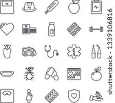 thin line icon set   heart... | Shutterstock .eps vector #1339106816