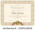 certificate. template diploma... | Shutterstock .eps vector #1339116626