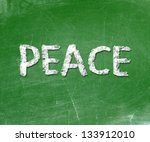 The Word Peace Written On A...
