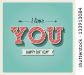 Happy Birthday Card  I Love Yo...