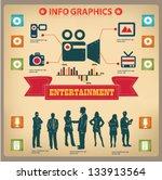 entertainment graphics design... | Shutterstock .eps vector #133913564