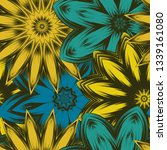 seamless floral background.... | Shutterstock .eps vector #1339161080