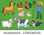 farmer and animals set | Shutterstock .eps vector #1339166510