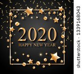2020 happy new year text for... | Shutterstock .eps vector #1339168043