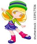cute little girl   Shutterstock . vector #133917536