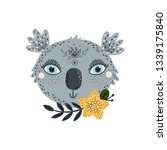 cute koala with flower and... | Shutterstock .eps vector #1339175840