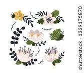 vector flowers collection... | Shutterstock .eps vector #1339175870