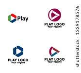 play logo  play icon button... | Shutterstock .eps vector #1339178576