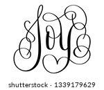 joy brush calligraphy banner | Shutterstock .eps vector #1339179629