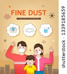 health care from fine dust | Shutterstock .eps vector #1339185659