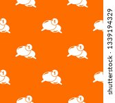 dialog pattern vector orange...