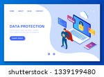 the concept of data protection. ... | Shutterstock .eps vector #1339199480