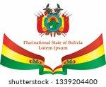 flag of bolivia  plurinational... | Shutterstock .eps vector #1339204400