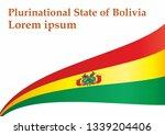 flag of bolivia  plurinational... | Shutterstock .eps vector #1339204406