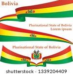 flag of bolivia  plurinational... | Shutterstock .eps vector #1339204409
