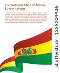 flag of bolivia  plurinational... | Shutterstock .eps vector #1339204436