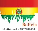 flag of bolivia  plurinational... | Shutterstock .eps vector #1339204463