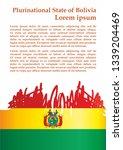 flag of bolivia  plurinational... | Shutterstock .eps vector #1339204469