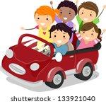 illustration of stickman kids... | Shutterstock .eps vector #133921040