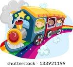 illustration of kids on a... | Shutterstock .eps vector #133921199