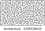 labyrinth of medium complexity. ... | Shutterstock .eps vector #1339218410