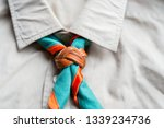 scout scarf and woggle .... | Shutterstock . vector #1339234736