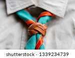 scout scarf and woggle .... | Shutterstock . vector #1339234739