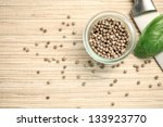 white pepper with a green leaf | Shutterstock . vector #133923770