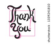 thank you hand drawn lettering... | Shutterstock .eps vector #1339241810