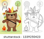 coloring book or page of funny... | Shutterstock .eps vector #1339250423
