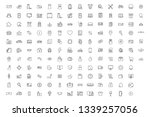 150 solid outline  icon online... | Shutterstock .eps vector #1339257056