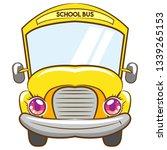 school bus vector design | Shutterstock .eps vector #1339265153