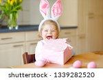 cute little toddler girl...   Shutterstock . vector #1339282520