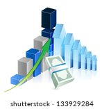 financial business graph... | Shutterstock . vector #133929284