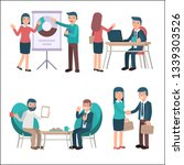 business people  different... | Shutterstock .eps vector #1339303526