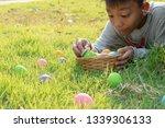 happy easter day. easter eggs... | Shutterstock . vector #1339306133