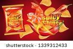 potato chips burning and...   Shutterstock .eps vector #1339312433