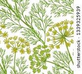 dill vector pattern | Shutterstock .eps vector #1339325939