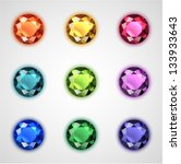 colorful gemstones collection   ...   Shutterstock .eps vector #133933643