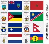 world flags of montserrat ... | Shutterstock .eps vector #133934060
