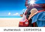 Summer Car On Beach And Sunny...