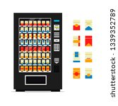 vending machine with cigarettes ... | Shutterstock . vector #1339352789