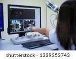 scientist is analyze... | Shutterstock . vector #1339353743