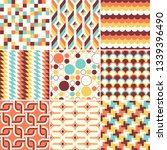 colorful abstract retro stylish ... | Shutterstock .eps vector #1339396490