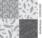 set of nature seamless | Shutterstock .eps vector #133941320
