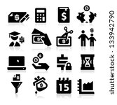 tax icons | Shutterstock .eps vector #133942790