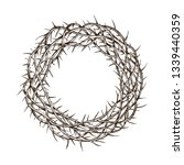 crown of thorns  sketch. hand... | Shutterstock .eps vector #1339440359