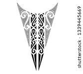 tribal polynesian tattoo neck... | Shutterstock .eps vector #1339445669